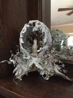 Winter Wolf - Egg Artistry by Mildred Davis