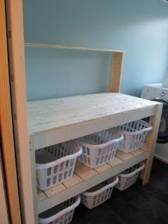 Laundry Sorter Takes On Potting Bench Profile   Adapted Dimensions And  Schemes From Ana White.