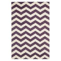 Brayden Studio Averett Purple / Ivory Area Rug Rug Size: 5' x 5'