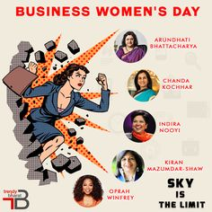 The Corporate world is not just a man's world anymore. Women are ruling each field with equal grace. Whether it's Indra Nooyi as Pepsico's CEO or Arundhati Bhattacharya as SBI's Chairman, the ladies are progressing shoulder to shoulder with their male counterparts. Celebrating Business Women's Day, celebrating Womanhood. #businesswomensday