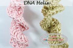 Learn how to create DNA using this crochet pattern. Explanation for both right and left handed crocheters. Bring awareness to science by making DNA models.