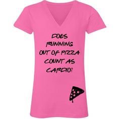RUNNING Out Of Pizza | Does running out of pizza count as cardio? Are you training or working out to get in shape? Tone up and tighten up while wearing your own fitness design. The gym isn't so bad when you are properly equipped. Lifting weights is a great way to bulk, build muscle, and exercise. Get your work out on with funny fitness designs. Funny Workout Shirts, Workout Humor, Funny Shirts, Funny Fitness, Run Out, Fitness Design, Running Motivation, Tone It Up, Diy Embroidery