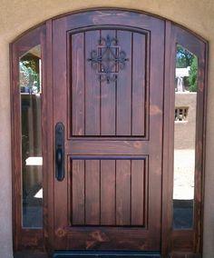 Love this door-!!  decorative entry door accessories   Email Us: info@adobedoor.com