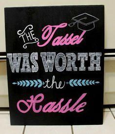 Graduation chalkboard  Graduation photo prop  by BailaDesignsCo