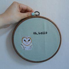 Barn Owl Cross Stitch Sampler  Original design by by MaMagasin, £28.00