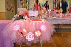 "Photo 4 of pink and orange polka dot girly Elmo / Birthday ""Elmo party: Madison is one! 1st Birthday Foods, Elmo First Birthday, First Birthday Parties, Birthday Party Themes, Birthday Ideas, Baby Birthday, Girl Birthday Decorations, Birthday Party Centerpieces, Elmo Party"