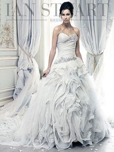 Ian Stuart Pracatan wedding dress currently for sale at off retail. Wedding Dresses London, Wedding Dress Prices, Best Wedding Dresses, Designer Wedding Dresses, Bridal Dresses, Wedding Styles, Wedding Gowns, Wedding Ideas, Lilac Wedding