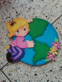 Te amo, mundo! Foam Crafts, Crafts To Make, Crafts For Kids, Arts And Crafts, School Board Decoration, School Decorations, Earth Day Activities, Preschool Activities, Paper Flowers Diy