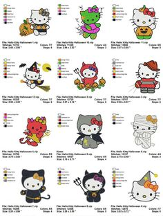 Hello Kitty Halloween  12  Embroidery designs by amazingshop2005, $9.90