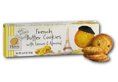 Pierre Biscuiterie French Butter Cookies with Lemon & Alm...