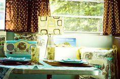 Trailer interior #travel #vintage #trailer #aqua
