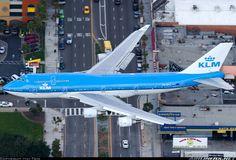 """KLM Boeing 747-406M seen """"crossing"""" Sepulveda Boulevard en route to LAX - December 2013"""