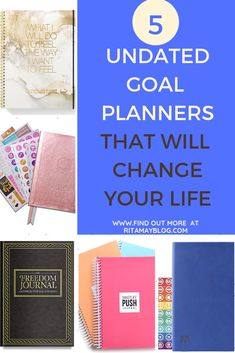 5 undated goal planners that will change your life Goals Planner, Life Planner, Self Development, Personal Development, Tumblr Relationship, Personal Goals, Financial Goals, Family Goals, Life Purpose