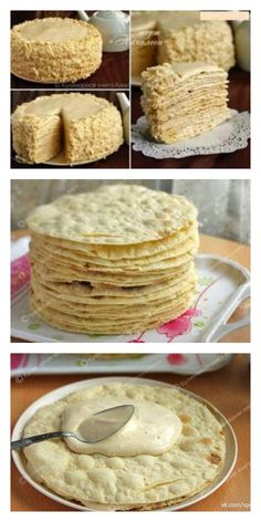 Napoleon Cake with Delicious Cream - 2019 Bilder Fotos- Торт «Наполеон Bolos Low Carb, Napoleon Cake, Cookie Recipes, Dessert Recipes, Russian Recipes, Snack, Christmas Desserts, Easy Desserts, Sweet Tooth