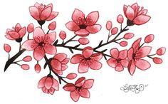 watercolor cherry blossom tattoos | Lori-Lee Thomas - Fine Art & Illustration Blog: Cherry Blossoms!