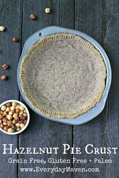 Hazelnut Pie Crust {Paleo, Gluten Free, Grain Free, Dairy Free} from www.EverydayMaven.com #paleo #glutenfree #pie #crust