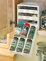 Spice Stack- Spice rack organizer for cabinet | Solutions or for storing smaller baking goods ^^