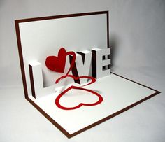 Spiral+Love+Pop+Up+Card+by+galinblack+on+Etsy,+$5.00