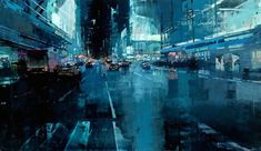 Jeremy Mann hates most things digital, but his works look just like digital art.