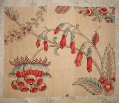 This is a beautiful and rare little piece of late 18th century fine linen and cotton toile c1790s, it has been block and plate printed, then overpainted with blue in places. It is more beautiful in real life than in the photos. | eBay!