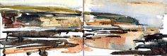 Robin Hoods Bay, watercolour sketch by Adrian Homersham Watercolor Artists, Watercolor Sketch, Robin Hoods Bay, Seascape Art, Sketchbook Pages, North Yorkshire, Great Artists, Coast, Sketches