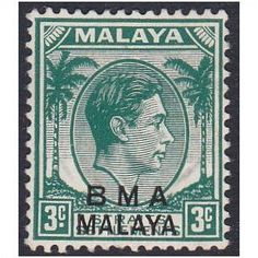 British Military Administration 1945 SG4b - 3c blue-green, MNG (ref 5367) Listing in the Malaya (British Military Administration),Malaya & Malaysia & S. Setts.,Commonwealth & British Colonial,Stamps Category on eBid United Kingdom | 143705114
