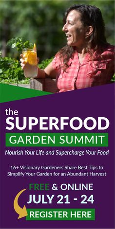 The free online Superfood Garden Summit will teach you strategies for growing nutrient-dense superfoods at home with tips from more than 16 expert presenters. This free online event airs July 21-24. Register now and get a complimentary guide to growing superfoods. Don't miss this info-packed program! (affiliate link) #garden #gardening tips Healthier Together, Urban Homesteading, Cleaning Recipes, Delicious Fruit, Grow Your Own Food, Fruits And Veggies, Superfoods, Gardening Tips, Herbalism