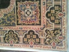 Star Patterns, Cross Stitch Patterns, Bohemian Rug, Initials, Diy And Crafts, Old Things, Traditional, Rugs, Floral