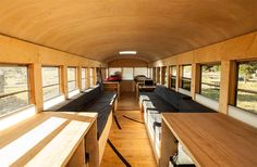 Student Turns an Old School Bus into a Cozy Mobile Home