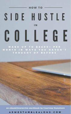 Want to make more money in less time than ever doing jobs you're actually passionate about? If you want to stop stressing about money as a student and want more free time for school and yourself, then this ebook+ workbook is the first step.