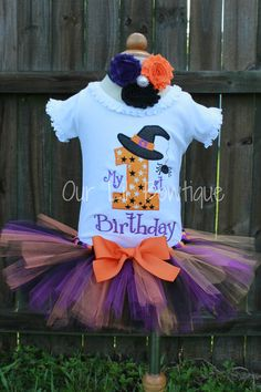 Halloween Birthday  My 1st Birthday Shirt  by OurLilBowtique