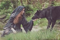 Red and the wolf. oh how i wish we could have a wolf dog on our shoot lol Foto Fantasy, Fantasy World, Fantasy Art, Dark Fantasy, Story Inspiration, Character Inspiration, Positive Inspiration, Writing Inspiration, She Wolf