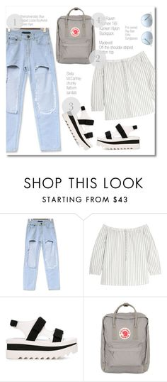"""""""Chunky Flatform Sandals"""" by fleur-353 ❤ liked on Polyvore featuring Madewell, STELLA McCARTNEY, Fjällräven and Ray-Ban"""