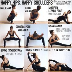 My favourite stretches to open the hips and the shoulders at the same time! It's like killing two…
