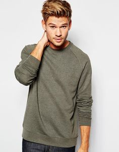 Image 1 of ASOS Sweatshirt With Raglan Sleeves