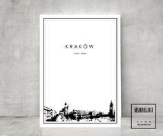 plakat KRAKÓW panorama Rynek Główny A3 - MAMBALAGA - Boże Narodzenie