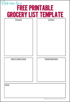 3 free printable grocery lists - Ask Anna