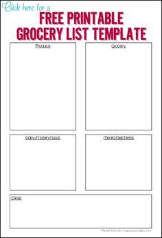 3 free printable grocery lists - Ask Anna
