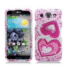 Cell Cases USA - LG Optimus G Pro Big Pink Hearts Diamond Hard Cover Case **************Use the code : CCUPIN to get 15% off your purchase and get your FREE shipping within the U.S !!  Check out our site for more awesome cases @ www.cellcasesusa.com