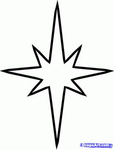 how to draw a christmas star step 4