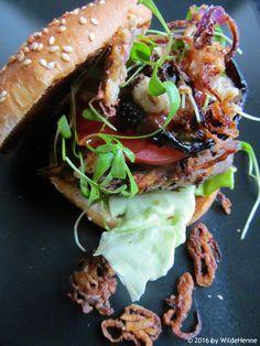 Wildes Poulet: Ein veganer Burger für den erwachsenen Hahn