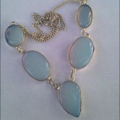 Ss Opalite Statement Necklace