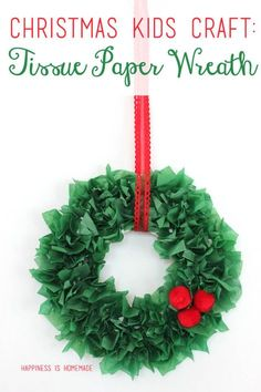 The whole family will want to get in on the fun when it comes time to make these simple tissue paper wreaths! All it takes are a few basic supplies and a little bit of patience to create your own personalized Christmas wreath – add pom poms, sequins or glitter for a festive finishing touch! …