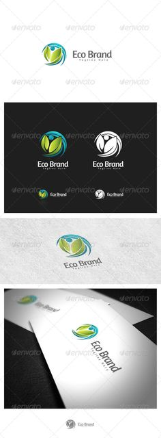 Eco Brand — Photoshop PSD #clean #health • Available here → https://graphicriver.net/item/eco-brand/4455312?ref=pxcr