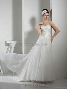 A-line Sweetheart Wedding Dresses