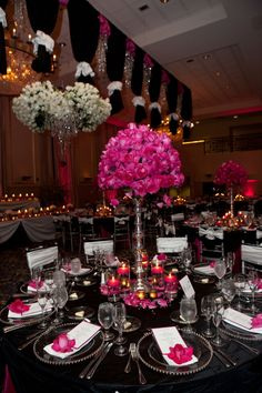 This elegant arrangement provides each guest with a keepsake as well as providing exceptional decor