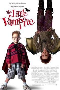 """Before Twilight film makers knew they needed to keep changing vampires. Instead of being a horror movie """"The Little Vampire"""" was aimed at children. Rather than giving kids nightmares film makers wanted kids to think vampires were cool. Family Movies, Kid Movies, Scary Movies, Great Movies, Disney Movies, Movies To Watch, Movie Tv, Jonathan Lipnicki, Best Halloween Movies"""