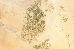 Center-pivot agriculture in the Wadi As-Sirhan Basin, Northern Saudi Arabia