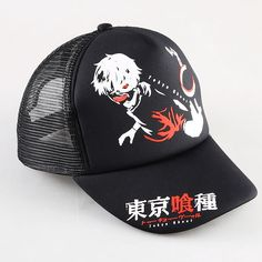 >> Click to Buy << Japanese Anime Tokyo Ghoul Kaneki Ken Snapback Hats Adjustable Mesh Sun Baseball Caps Black Color 3 Styles #Affiliate