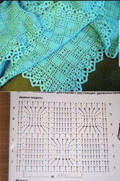 Poncho Crochet, Crochet Shawl Diagram, Crochet Bedspread Pattern, Crochet Chart, Filet Crochet, Crochet Motif, Blanket Crochet, Baby Knitting Patterns, Crochet Stitches Patterns